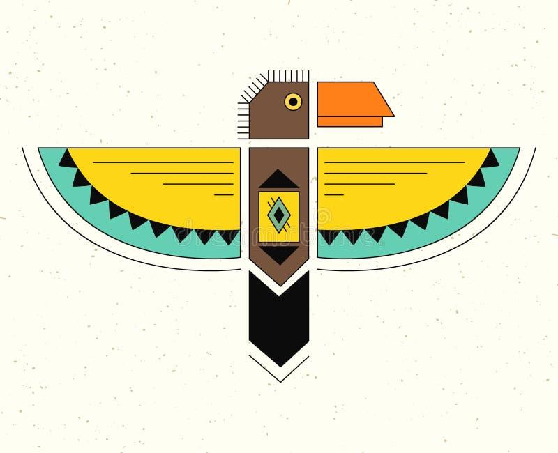 Γραμμικό λογότυπο thunderbird ελεύθερη απεικόνιση δικαιώματος
