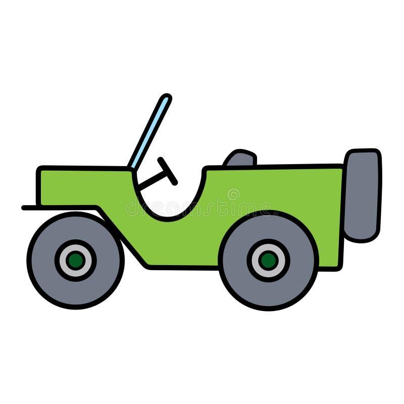 Γραμμικό χαριτωμένο αυτοκίνητο που χωρίζεται στο άσπρο υπόβαθρο στοκ φωτογραφία