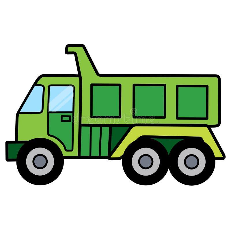 Γραμμικό tipper φορτηγό που χωρίζεται στο άσπρο διάστημα στοκ εικόνα