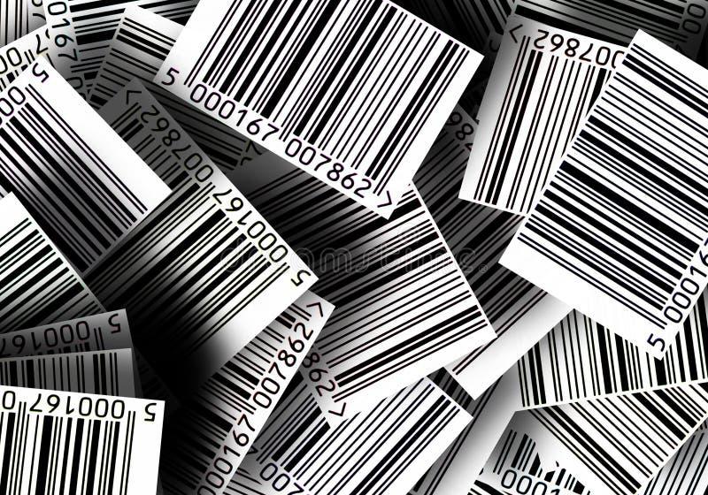 γραμμωτοί κώδικες ανασκό& ελεύθερη απεικόνιση δικαιώματος