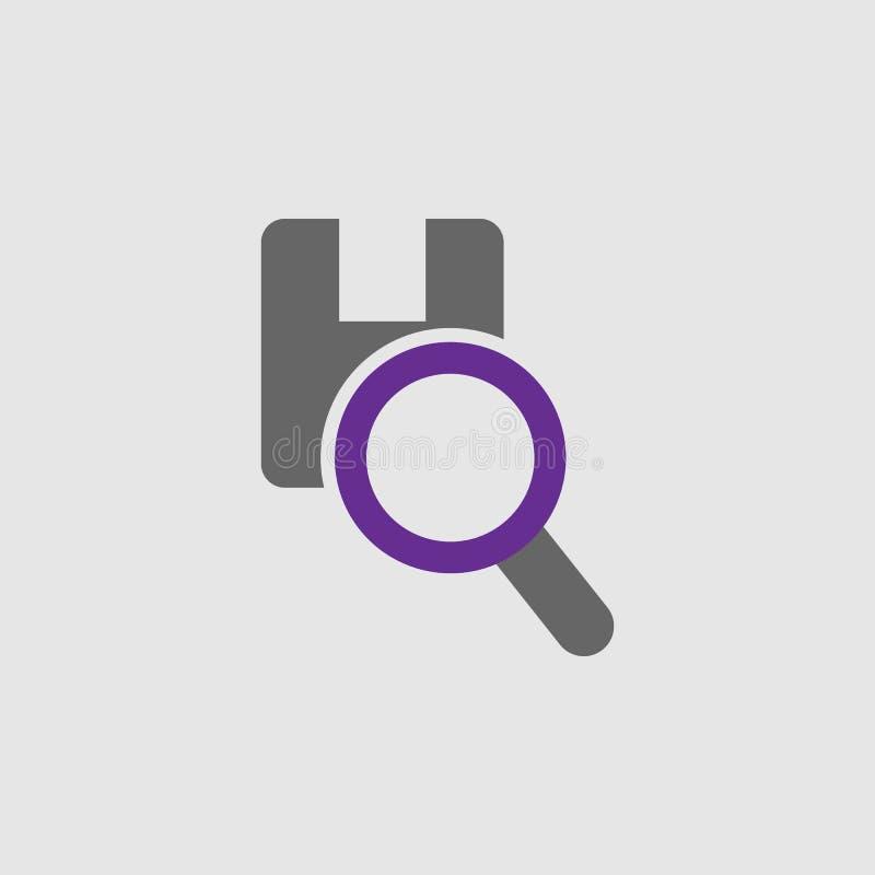 Γραμμωτός κώδικας, εικονίδιο συσκευασίας Στοιχείο του εικονιδίου παράδοσης και διοικητικών μεριμνών για την κινητούς έννοια και τ απεικόνιση αποθεμάτων