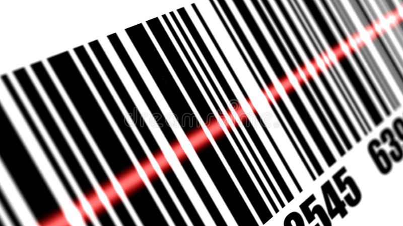 Γραμμωτός κώδικας ανίχνευσης ανιχνευτών διανυσματική απεικόνιση