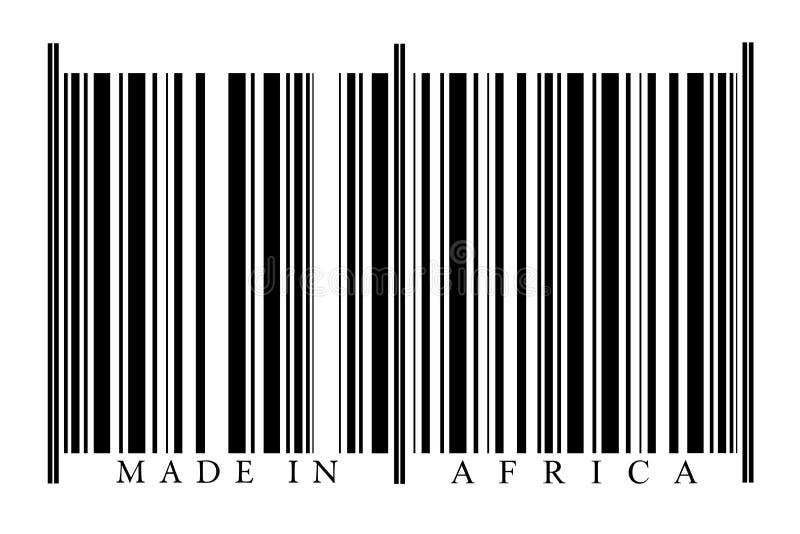 Γραμμωτός κώδικας Αφρική στοκ εικόνες με δικαίωμα ελεύθερης χρήσης