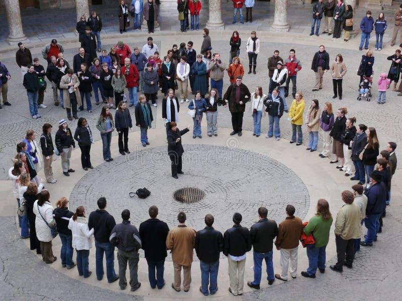 Γρανάδα, Ισπανία 01/05/2007 Χορωδία στο Palazzo Carlo στο Alh στοκ φωτογραφίες