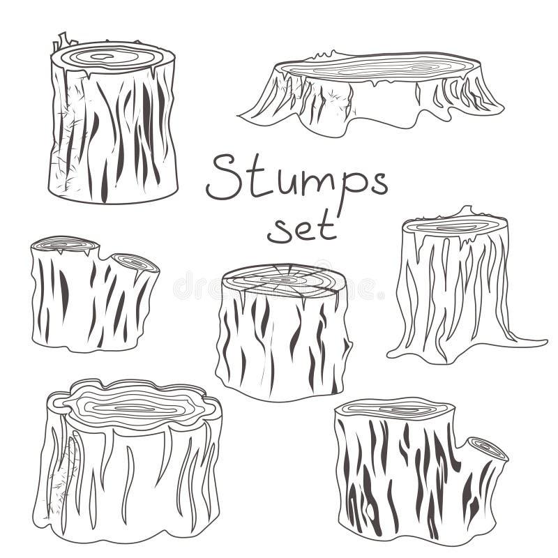 Γραπτές σκιαγραφίες κολοβωμάτων καθορισμένες απεικόνιση αποθεμάτων