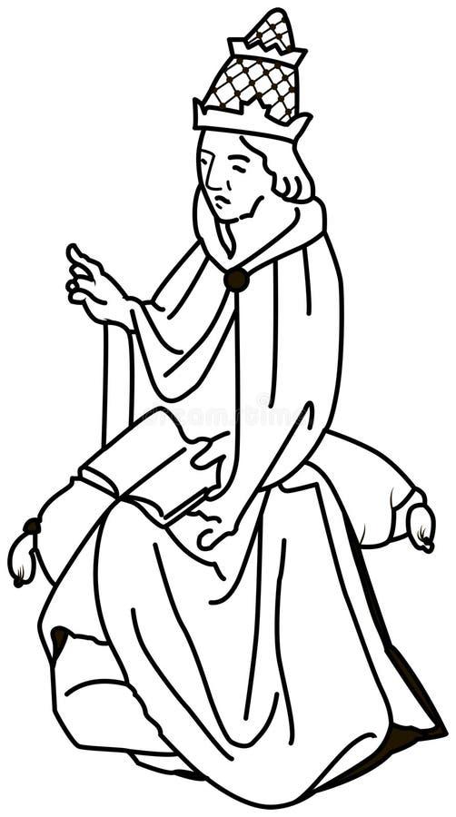 Γραπτή απεικόνιση ενός καθολικού παπά Boniface VIII διανυσματική απεικόνιση