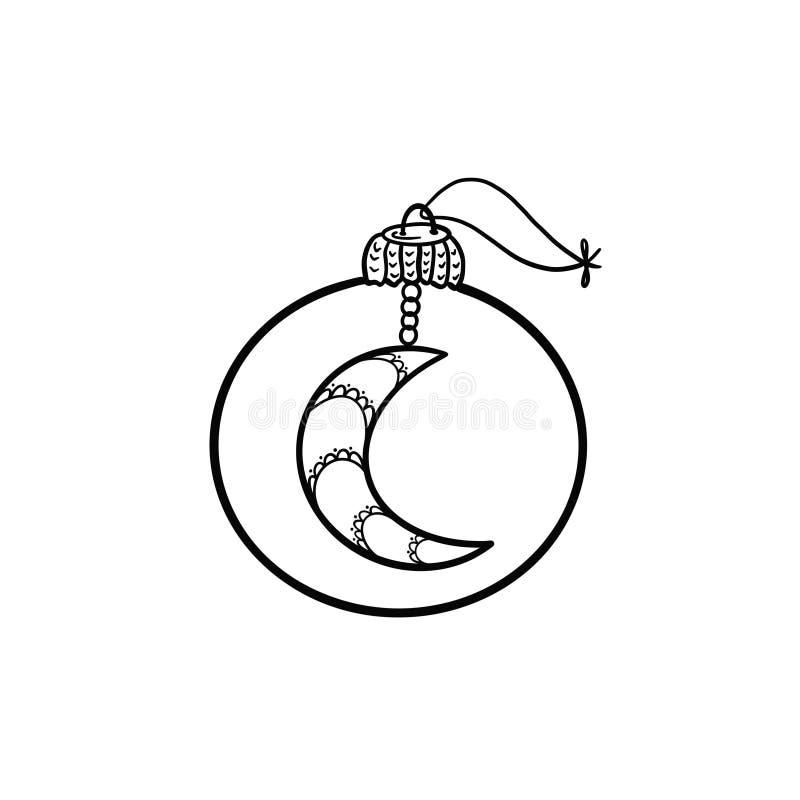 Γραπτή απεικόνιση ενός παιχνιδιού χριστουγεννιάτικων δέντρων απεικόνιση αποθεμάτων