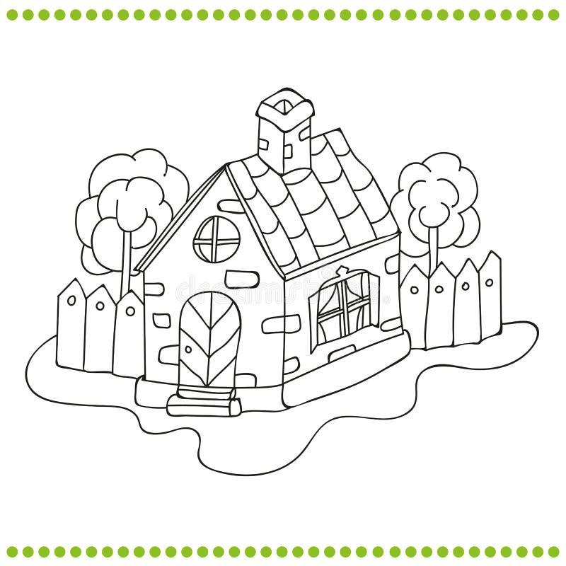 Γραπτή απεικόνιση ενός σπιτιού απεικόνιση αποθεμάτων