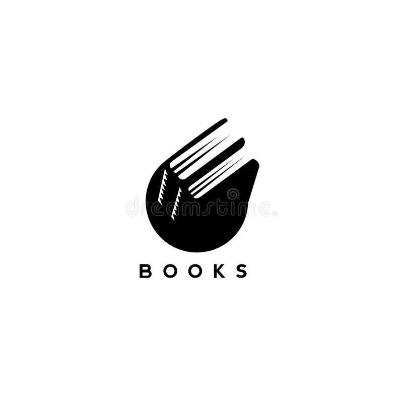 Γραπτή διανυσματική απεικόνιση βιβλίων ελεύθερη απεικόνιση δικαιώματος