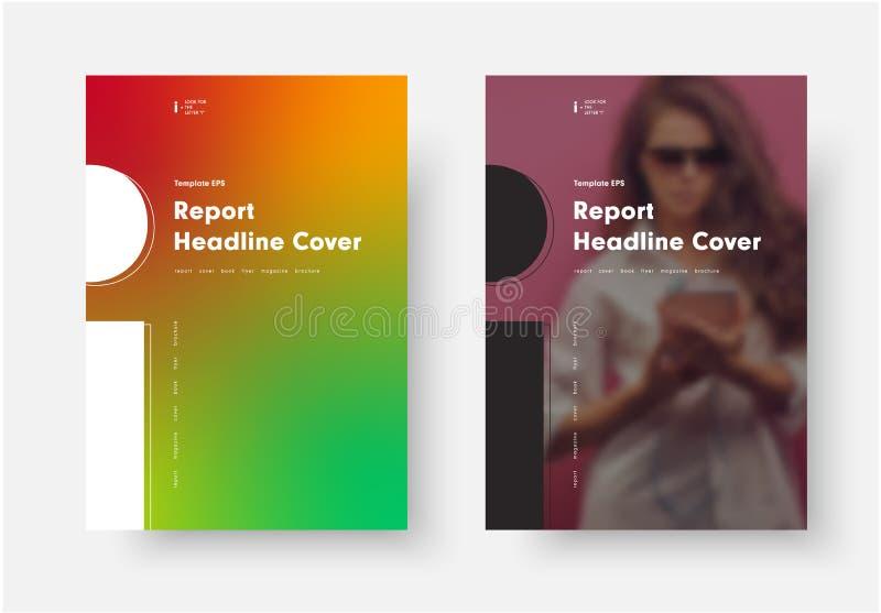Γραπτή διανυσματική κάλυψη για τη ετήσια έκθεση με το silhouet απεικόνιση αποθεμάτων