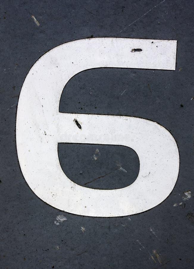 Γραπτή διατύπωση στο στενοχωρημένο κρατικό τυπογραφία αριθμό έξι 6 στοκ φωτογραφία με δικαίωμα ελεύθερης χρήσης