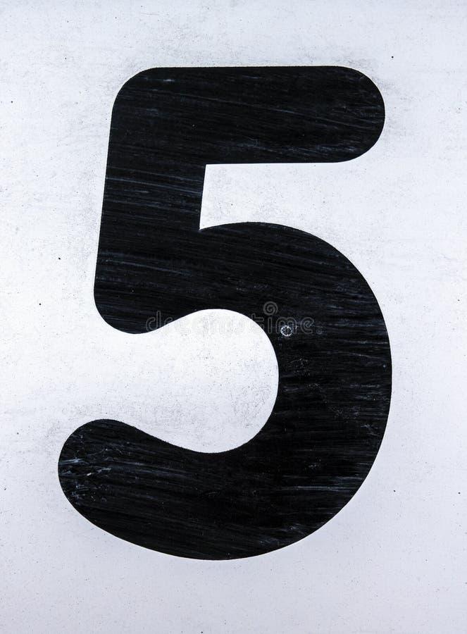 Γραπτή διατύπωση στο στενοχωρημένο κρατικό τυπογραφία αριθμό πέντε 5 στοκ φωτογραφίες