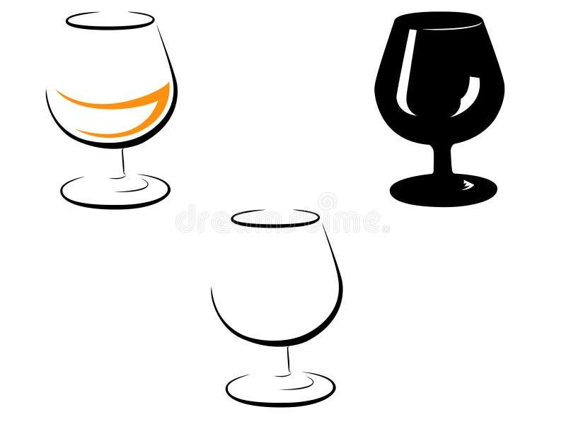 Γραπτή εικόνα wineglass στοκ εικόνες