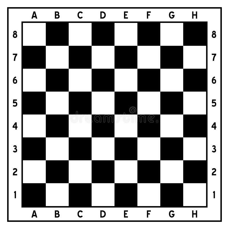 Γραπτή κενή σκακιέρα διανυσματική απεικόνιση