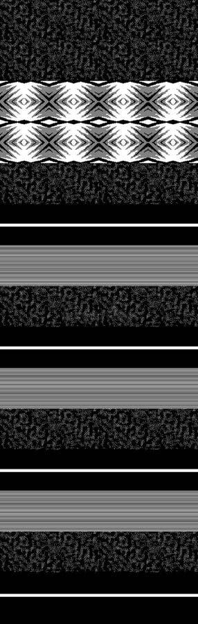Γραπτή μπλούζα δύο χρώματος jaquard στο μπροστινό σχέδιο επιτροπής επανάληψης διανυσματική απεικόνιση