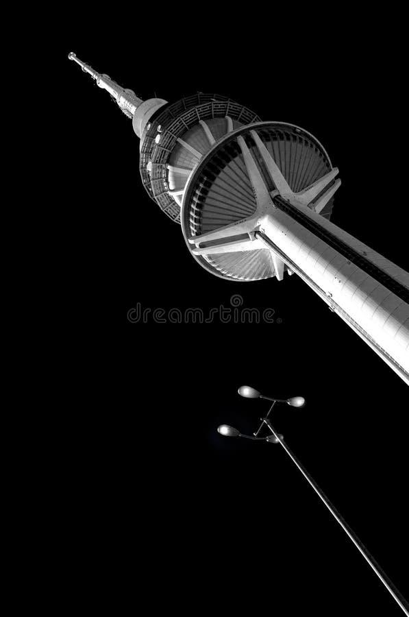 Γραπτή Σύνοδος Κορυφής του Κουβέιτ πύργων απελευθέρωσης πύργων στοκ εικόνα με δικαίωμα ελεύθερης χρήσης