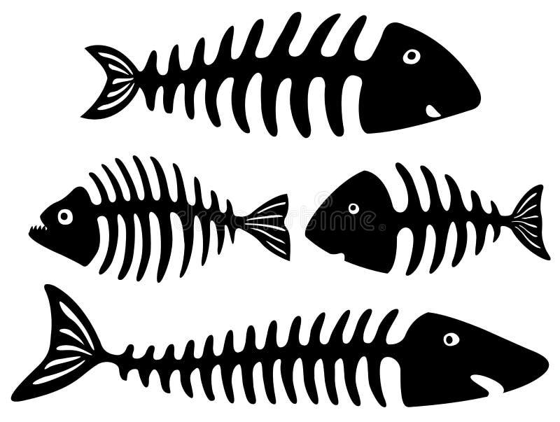 Γραπτή τέχνη με τα κόκκαλα ψαριών απεικόνιση αποθεμάτων