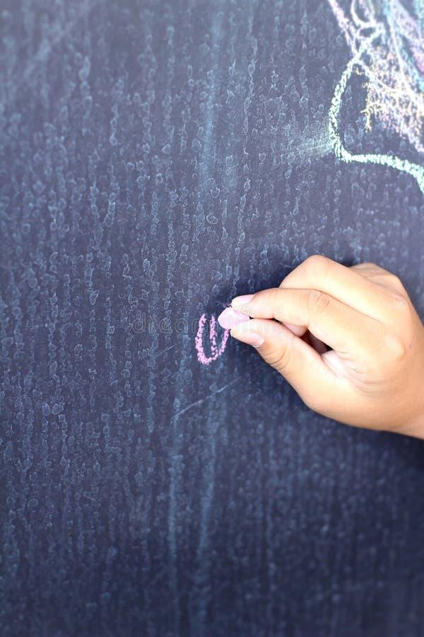 Γραπτή χέρι διατύπωση στους πίνακες στοκ φωτογραφίες