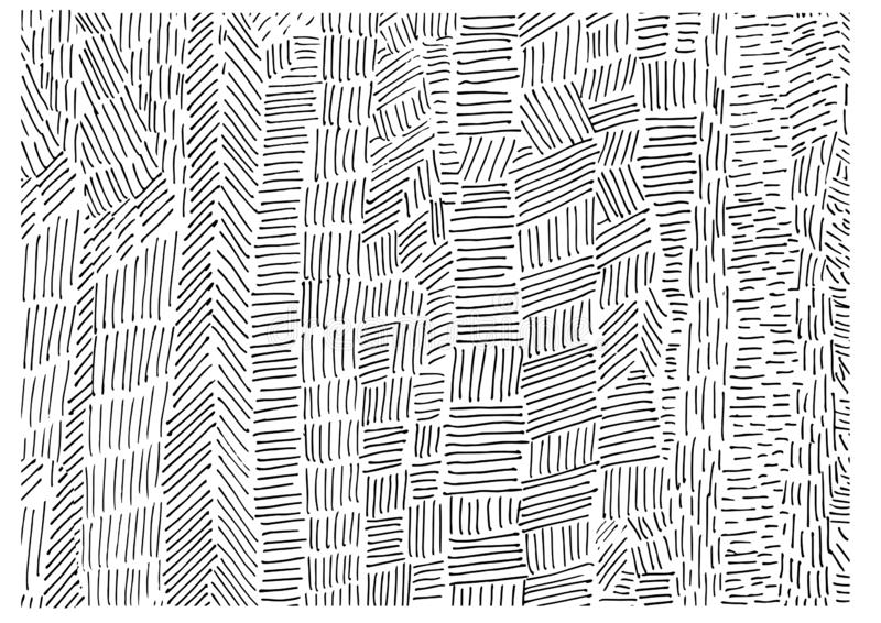 Γραπτή hand-drawn διακόσμηση γραμμών διανυσματική απεικόνιση