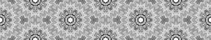 Γραπτός άνευ ραφής κύλινδρος συνόρων Γεωμετρικός στοκ φωτογραφία με δικαίωμα ελεύθερης χρήσης