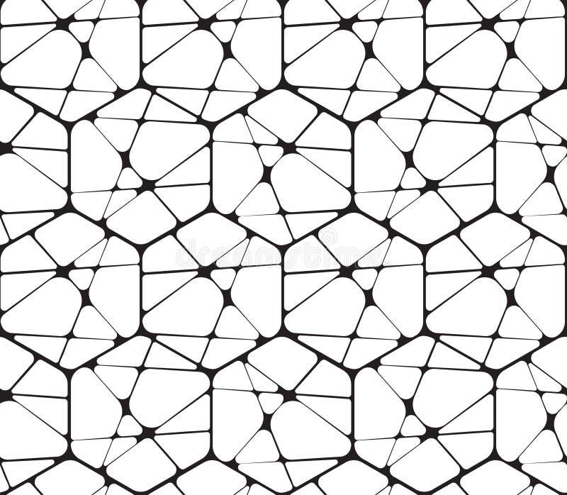 Γραπτός αφηρημένος γεωμετρικός διανυσματικός άνευ ραφής ελεύθερη απεικόνιση δικαιώματος