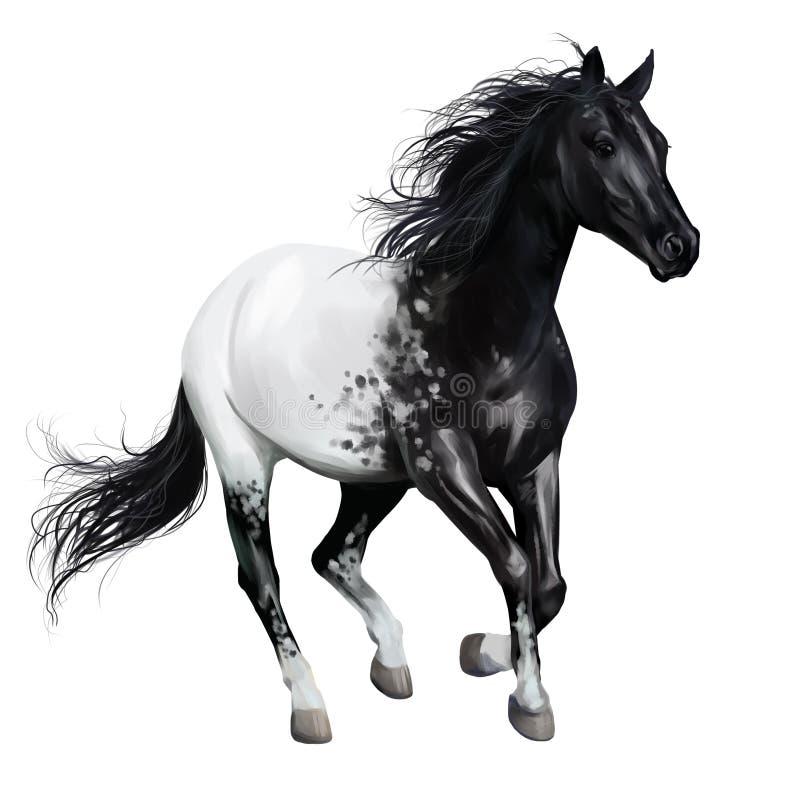 Γραπτό άλογο Ζωγραφική Watercolor απεικόνιση αποθεμάτων