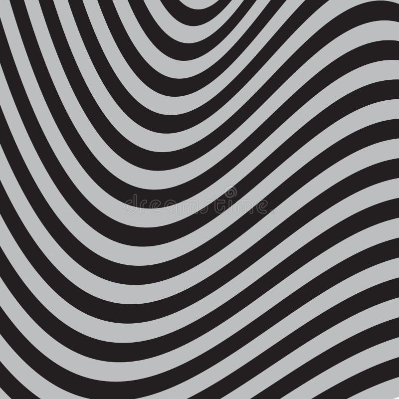Γραπτό αφηρημένο ριγωτό υπόβαθρο τέχνη οπτική διανυσματική απεικόνιση