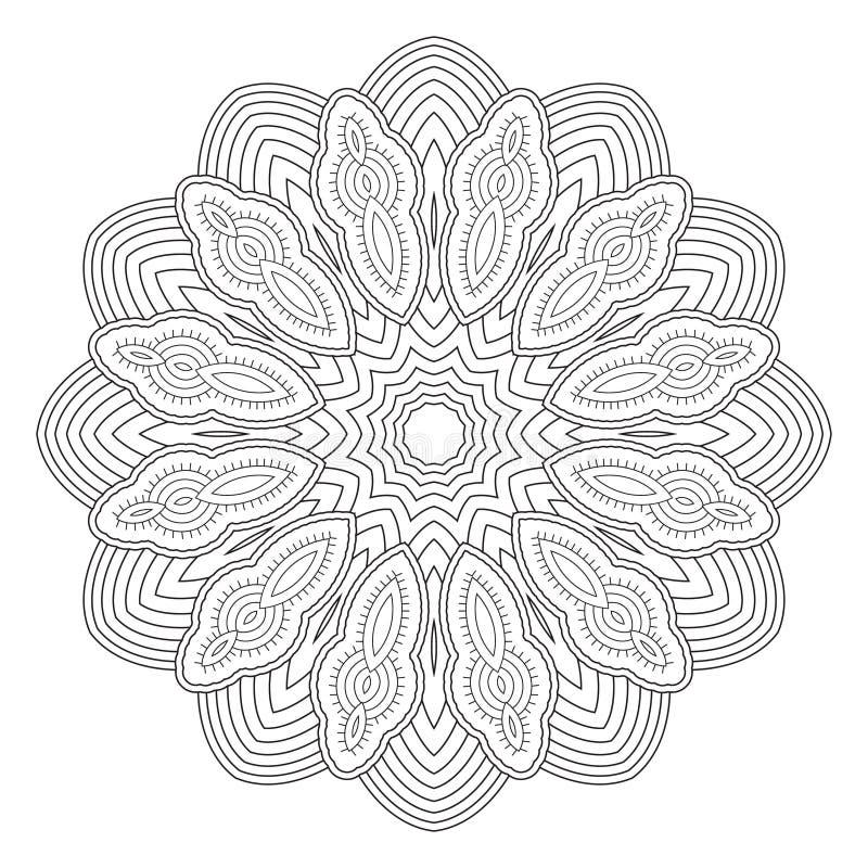 Γραπτό αφηρημένο σχέδιο, mandala διανυσματική απεικόνιση