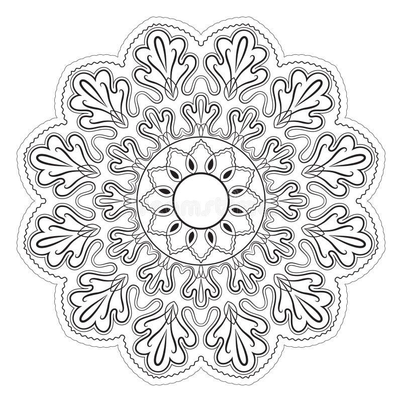 Γραπτό αφηρημένο σχέδιο, mandala ελεύθερη απεικόνιση δικαιώματος
