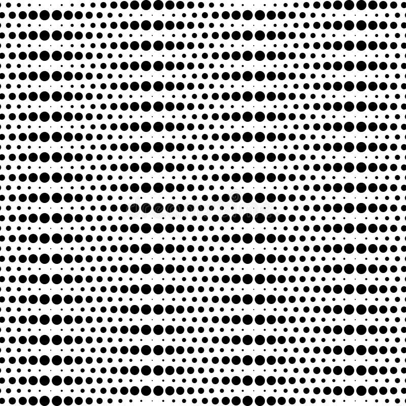 Γραπτό γεωμετρικό άνευ ραφής σχέδιο με τον κύκλο, περίληψη διανυσματική απεικόνιση