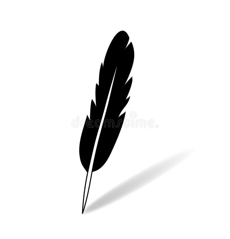 Γραπτό επίπεδο απλό φτερών πνεύμα απεικόνισης εικονιδίων διανυσματικό ελεύθερη απεικόνιση δικαιώματος