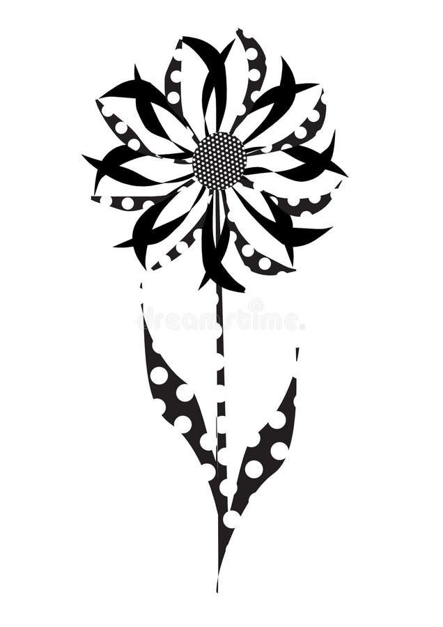 Γραπτό λουλούδι Polkadot στοκ φωτογραφίες με δικαίωμα ελεύθερης χρήσης