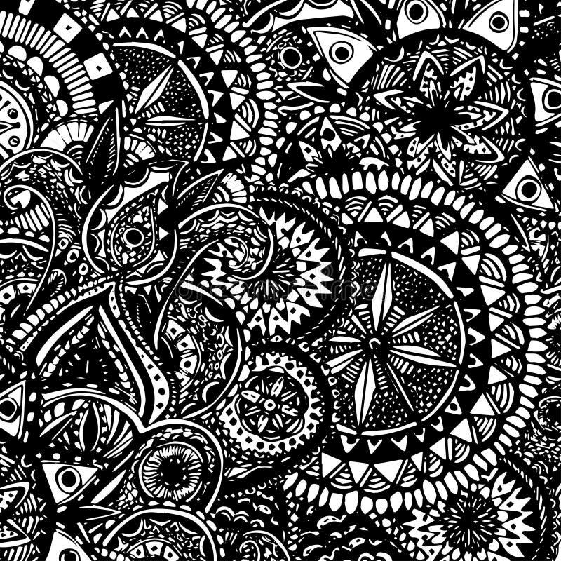 Γραπτό περίκομψο χέρι που σύρεται doodles με απεικόνιση αποθεμάτων