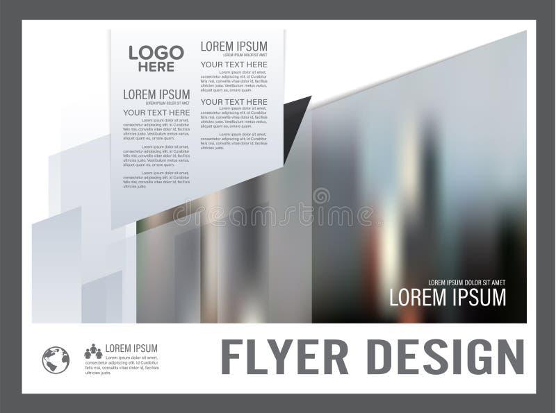 Γραπτό πρότυπο σχεδίου σχεδιαγράμματος φυλλάδιων _ ελεύθερη απεικόνιση δικαιώματος