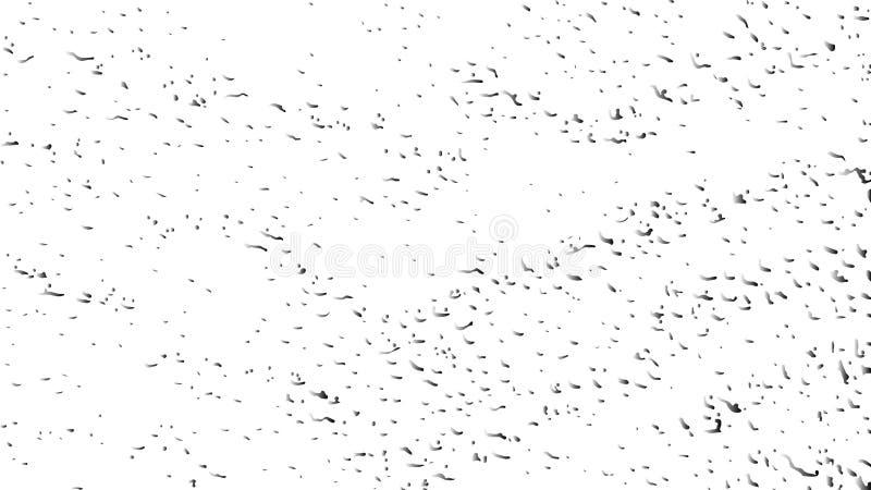 Γραπτό σχέδιο Grunge Μονοχρωματική αφηρημένη σύσταση μορίων Το υπόβαθρο των ρωγμών, γρατζουνίζει, λεκιάζει, γραμμές r διανυσματική απεικόνιση