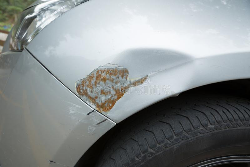 Γρατσουνιές στο αυτοκίνητο στοκ εικόνες με δικαίωμα ελεύθερης χρήσης