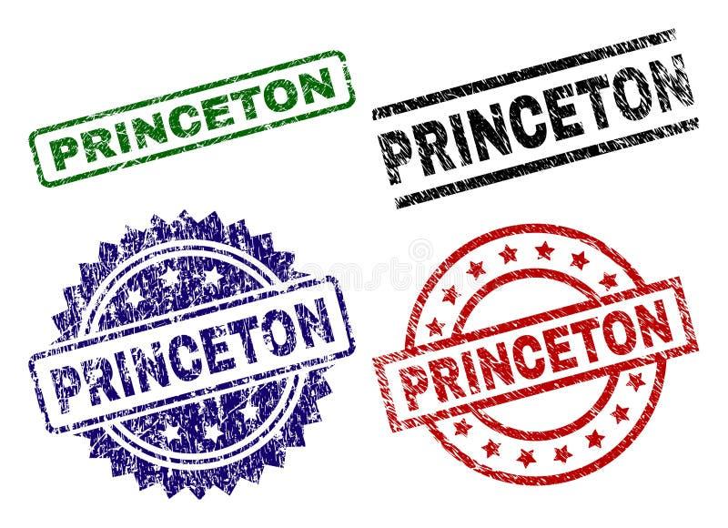 Γρατσουνισμένες κατασκευασμένες σφραγίδες γραμματοσήμων PRINCETON ελεύθερη απεικόνιση δικαιώματος
