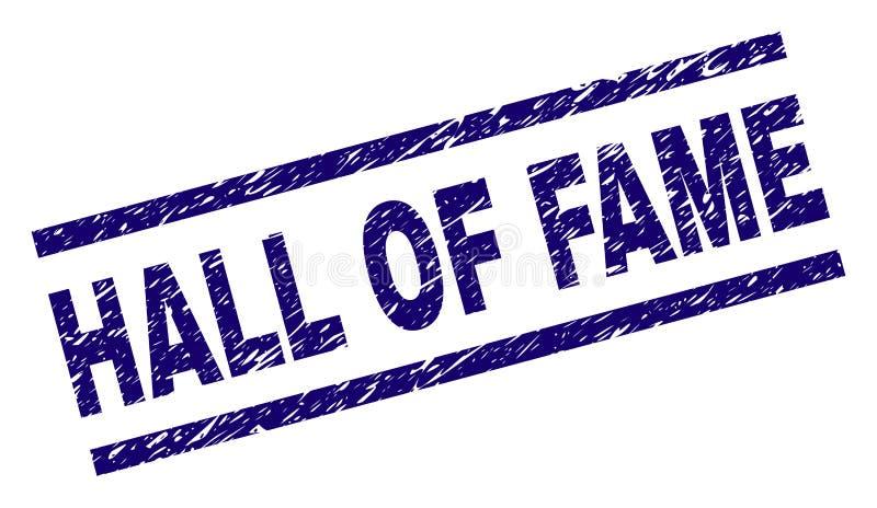 Γρατσουνισμένη κατασκευασμένη σφραγίδα γραμματοσήμων HALL OF FAME στοκ φωτογραφία