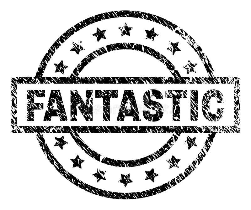 Γρατσουνισμένη κατασκευασμένη ΦΑΝΤΑΣΤΙΚΗ σφραγίδα γραμματοσήμων διανυσματική απεικόνιση