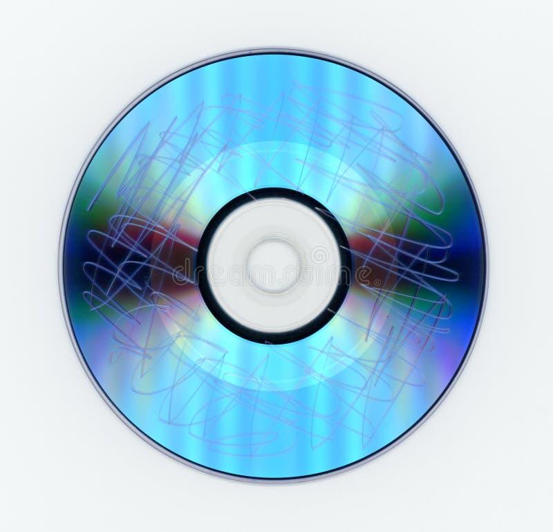Γρατσουνισμένος τηλεοπτικός δίσκος DVD στοκ εικόνες με δικαίωμα ελεύθερης χρήσης