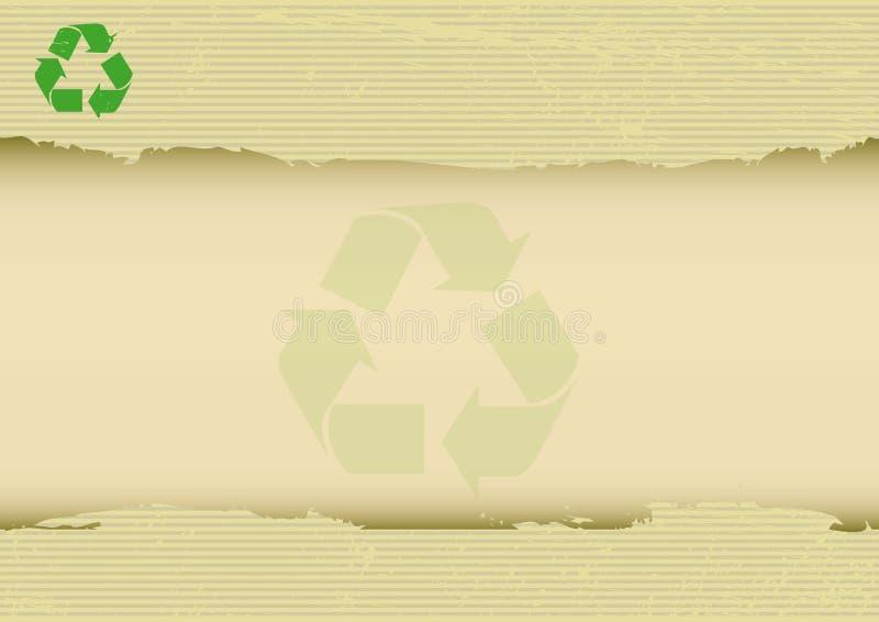 Γρατσουνισμένο recyclabe οριζόντιο υπόβαθρο απεικόνιση αποθεμάτων