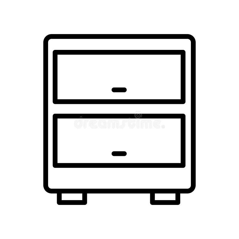 Γραφείου σημάδι και σύμβολο εικονιδίων διανυσματικό που απομονώνονται στο άσπρο υπόβαθρο ελεύθερη απεικόνιση δικαιώματος