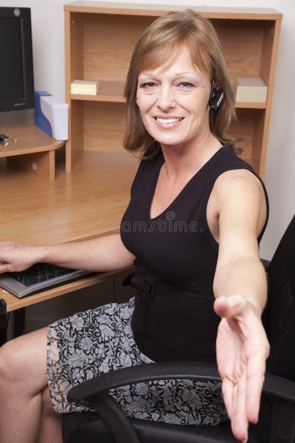 γραφείο αυτή στην υποδοχή στοκ φωτογραφία