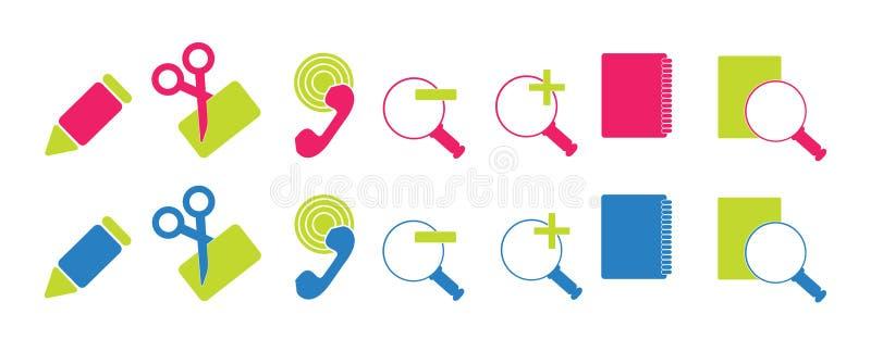 Download γραφείο εικονιδίων απλό διανυσματική απεικόνιση. εικονογραφία από κλήση - 13184251