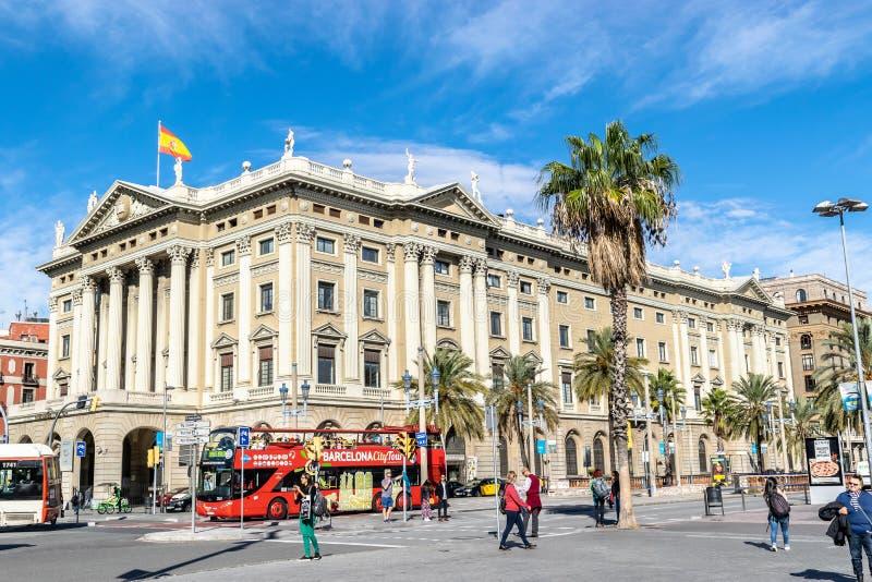 Γραφείο εισπρακτόρων φόρων Tributaria Agencia στο λιμένα Vell στη Βαρκελώνη στοκ φωτογραφία