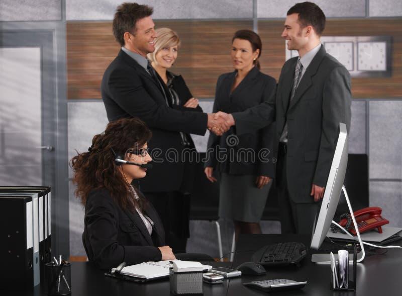 γραφείο επιχειρηματιών στοκ εικόνες
