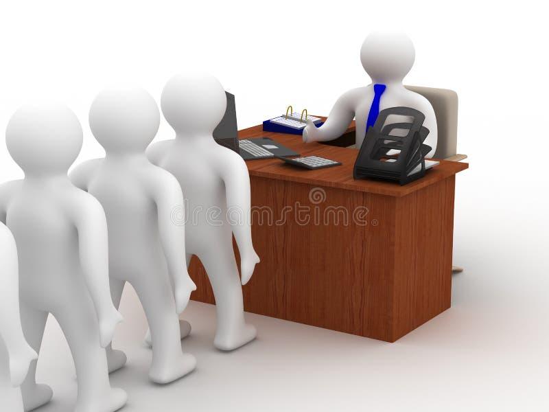 γραφείο ζωής ελεύθερη απεικόνιση δικαιώματος