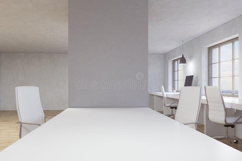 Γραφείο με τον κενό τοίχο ελεύθερη απεικόνιση δικαιώματος