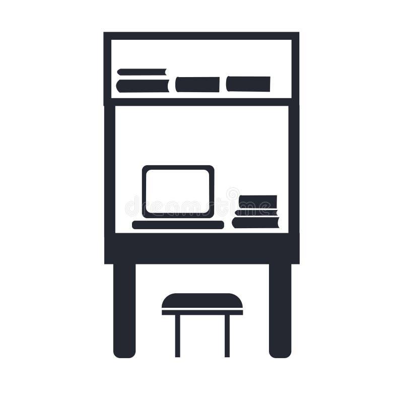 Γραφείων σημάδι και σύμβολο εικονιδίων διανυσματικό που απομονώνονται στο άσπρο υπόβαθρο, Δ διανυσματική απεικόνιση