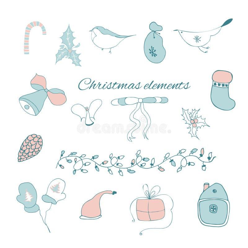 Γραφικά στοιχεία Χριστουγέννων στοκ φωτογραφία